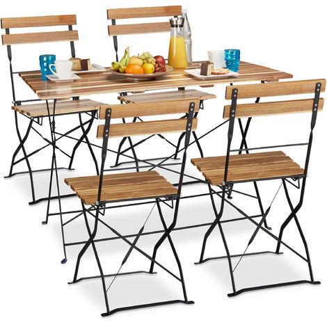 5 Tlg Gartensitzgruppe Aus Holz Großer Gartentisch