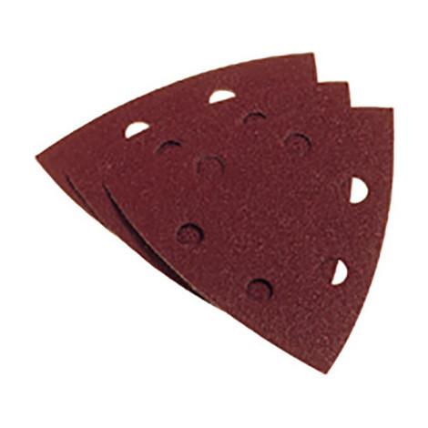 5 triangles abrasifs auto-agrippants avec trous d'extraction de poussière 93 mm grain 120 - 348.45 - PG Professional