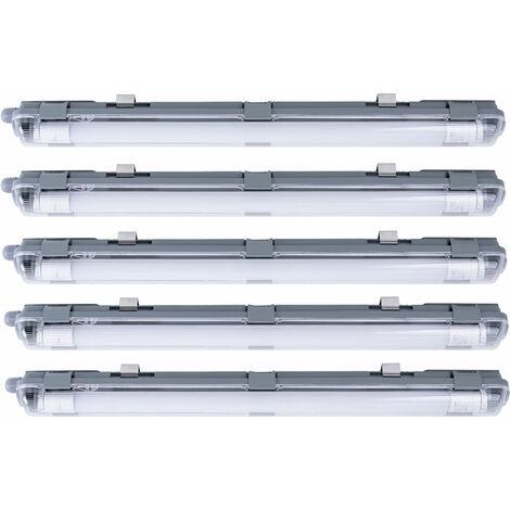5 Tubos LED Accesorios para tinas Salas industriales Taller Luz del día Lámparas de techo