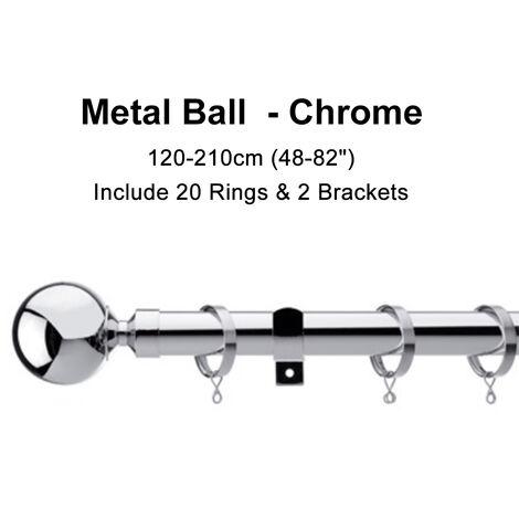 5 Tyes Material 120cm-210cm Metal Retractable Rod Track Curtain Rod Curtain Pole