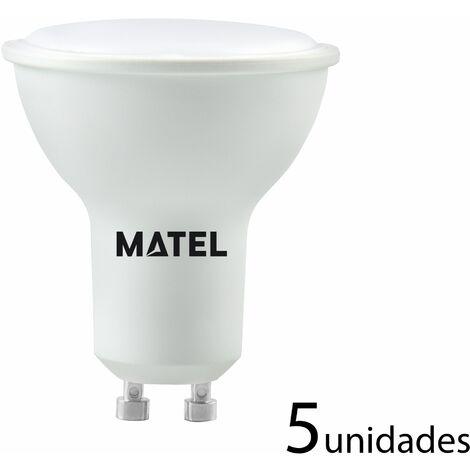 5 unidades Bombilla LED dicroica 120 casquillo GU10 8w 750lm cálida