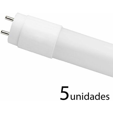 5 unidades tubo LED T8 330 CRISTAL 120cm 18w cálido