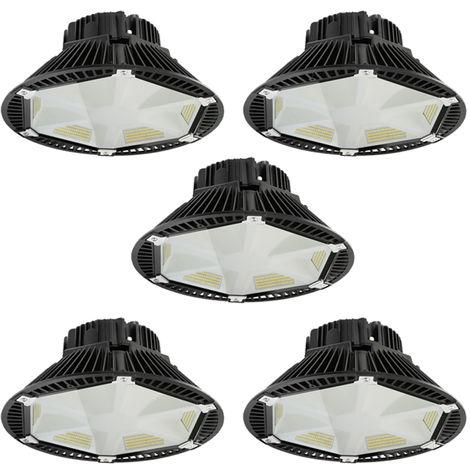 5 x 150W 19500LM SMD 2835 IP65 UFO LED High Bay Light White LED Warehouse Lighting Commercial Bay Lighting