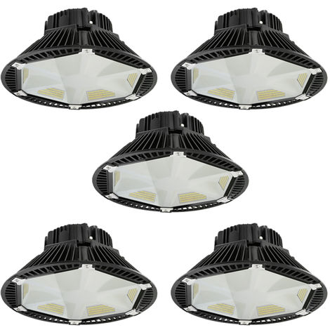 5 x 200W 26000LM SMD 2835 IP65 UFO LED High Bay Light White LED Warehouse Lighting Commercial Bay Lighting