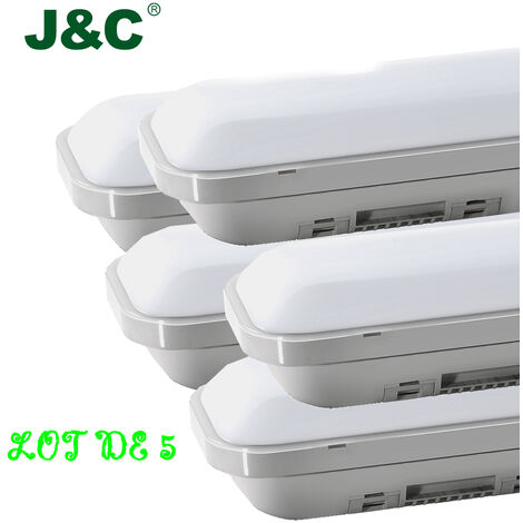 5 x 2ft ( 60cm ) 12W 1000LM IP65 Natural White LED Batten Slim Tri-Proof Anti Corrosive Ceiling Light