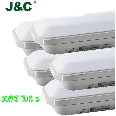 5 x 2ft ( 60cm ) 18W 1500LM IP65 Natural White LED Batten Slim Tri-Proof Anti Corrosive Ceiling Light