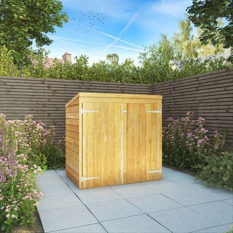 Waltons 5ft x 3ft Overlap Wooden Garden Mower Store