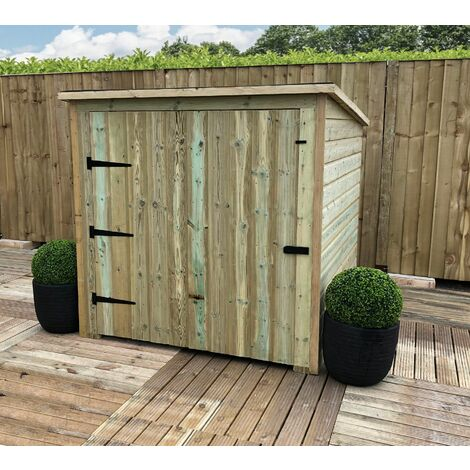 """main image of """"5 x 4 Pressure Treated Tongue And Groove Mobility Scooter Store With A Large Single Door (No Floor)"""""""