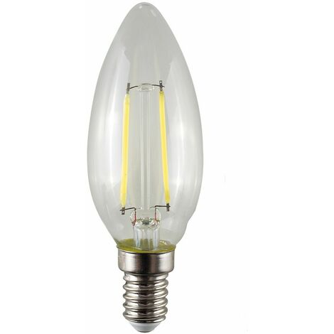5 x 4W Dimmable LED Filament Ses E14 Clear Candle Light Bulbs - Warm White