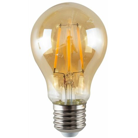 5 x 4w LED Filament ES E27 GLS Amber Light Bulb - Warm White 2700K