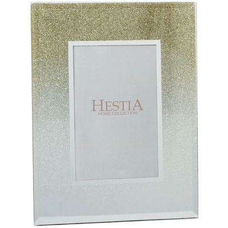 5' x 7' - Hestia Glass Gold Glitter Photo Frame