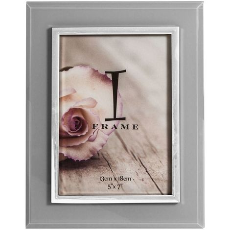 5' x 7' - iFrame Grey & Silver Tone Photo Frame