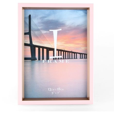 5' x 7' - iFrame Pink & Gold Photo Frame