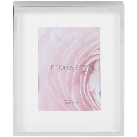 5' x 7' - Impressions Silver Plated Deep Photo Frame