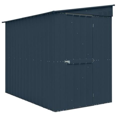 5 x 8 Premier EasyFix - Lean To Pent - Metal Shed - Anthracite Grey (1.55m x 2.42m)
