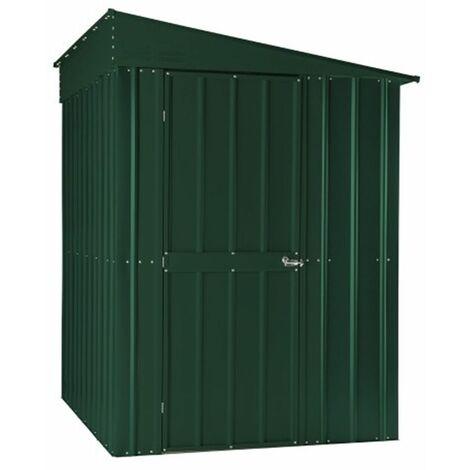 5 x 8 Premier EasyFix - Lean To Pent - Metal Shed - Heritage Green (1.55m x 2.42m)