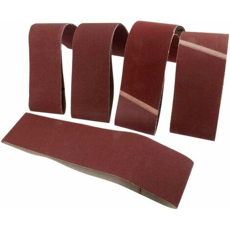 5 x Bandes abrasives,pour Ponceuse à Bande/Courroies abrasives,50x686 mm,Grains 1000#
