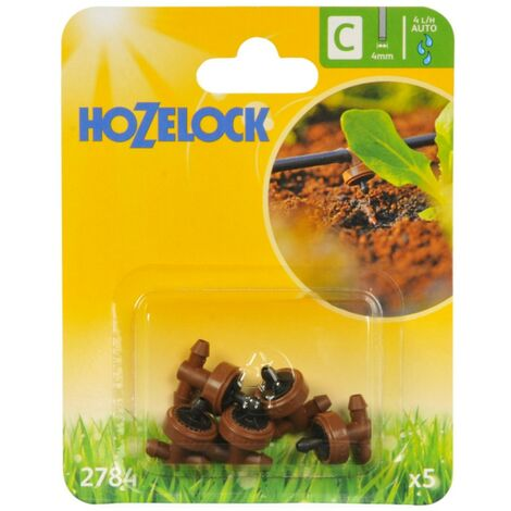 5 x Hozelock 2784 Micro Irrigation Automatic Watering In Line Water Dripper