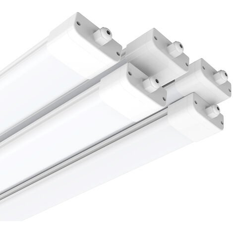 5 x IP65 120cm (4ft) 36W 2700-3300LM Natural White LED Batten Tri-Proof Ceiling Lights