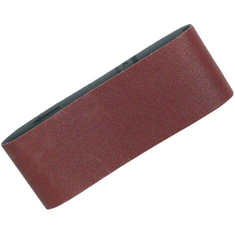 """5 X Makita 120 Grit Medium 100mm x 610 4\"""" Belt Sander Sanding Belt for 9401 9404"""