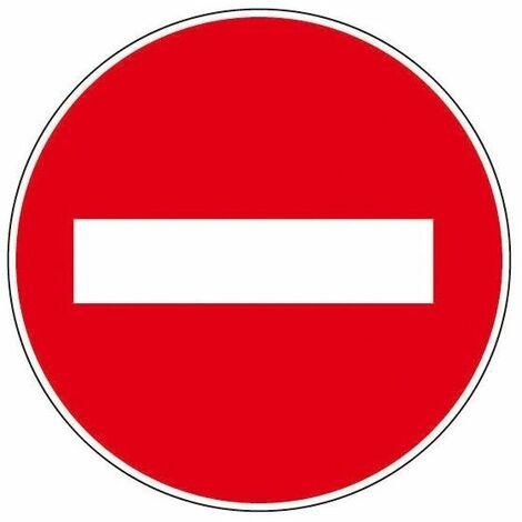 """5 X (PANNEAU D'INTERDICTION) Panneau d'interdiction - """"défense de stationner"""""""