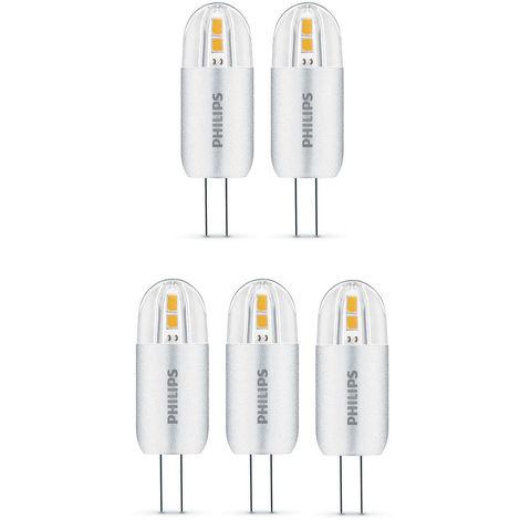 5 x Philips LED 2W - 20W G4 Capsule Light Bulbs A++ 200lm 12v Warm White 2700K
