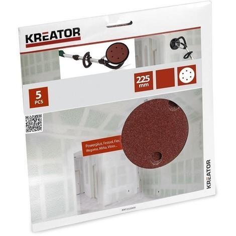 5 X Schleifpapier für Trockenbauschleifer Körnung 60 - KRT232004
