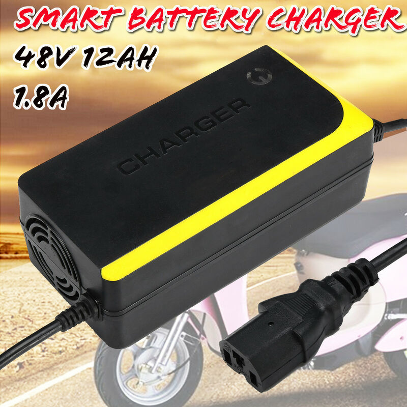 50-180W 220V 48V 12AH Lead Acid Battery Charger Adapter for Electric Bike Scooters