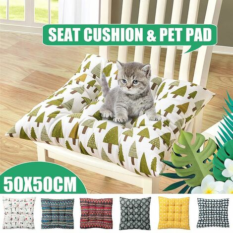 50 * 50cm Chair Cushion Super Thick Seat Cushion Soft Outdoor Patio Seat Cushion (Red National Style)