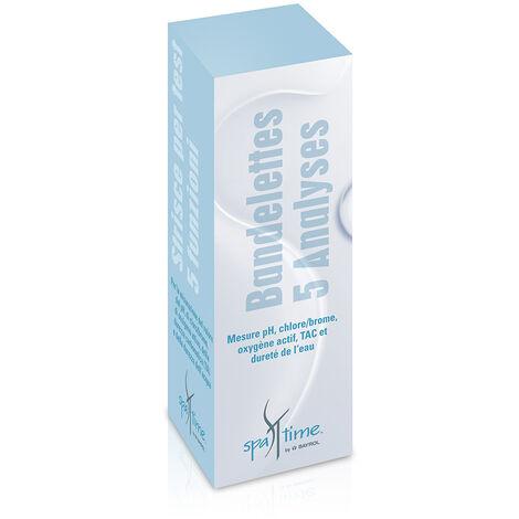 50 bandelettes de test SpaTime pour analyse eau spa - Bayrol