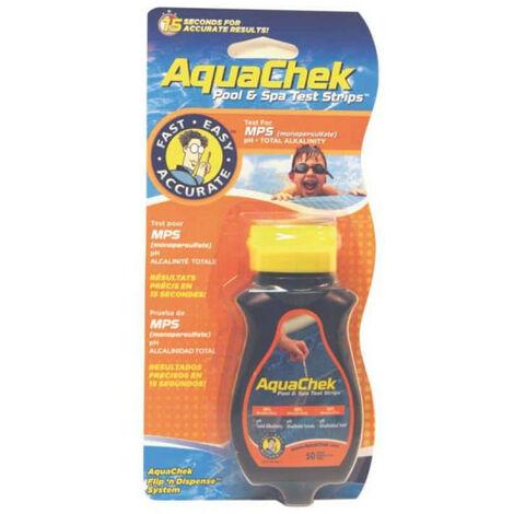 50 bandelettes test pour oxygène - aquaoxy - aquachek
