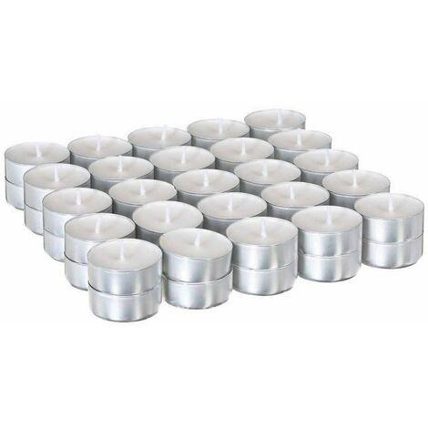 50 Bougies chauffe plat - Blanc - Blanc
