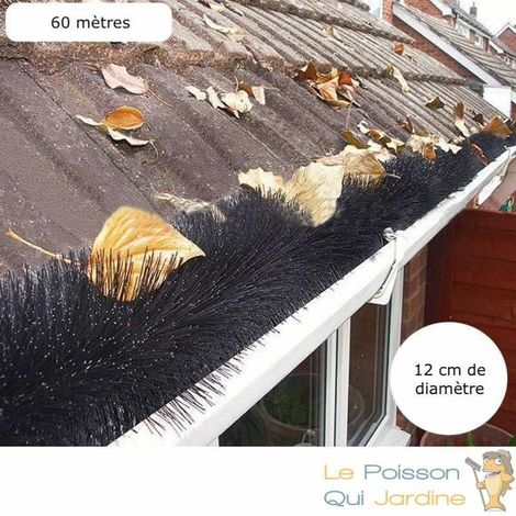 50 Brosses Protection De Gouttières - Diamètre : 12 cm 120 cm de long