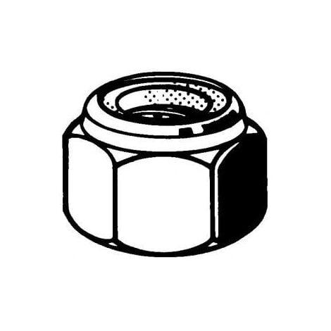 "main image of ""50 Ecrous Frein Hexagonaux M5 Acier Inoxydable A2"""