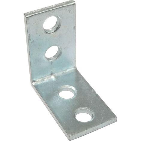 50 équerres d'assemblage renfort d'angle fixation en métal 25/25/13mm