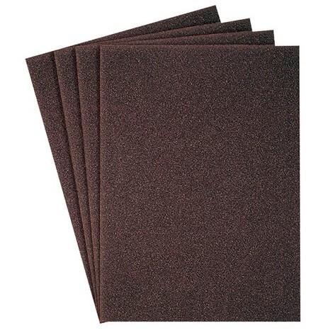 Leman 80 pour bois et m/étal Leman 9723780 Lot de 50 feuilles toile corindon 230 x 280 mm Gr