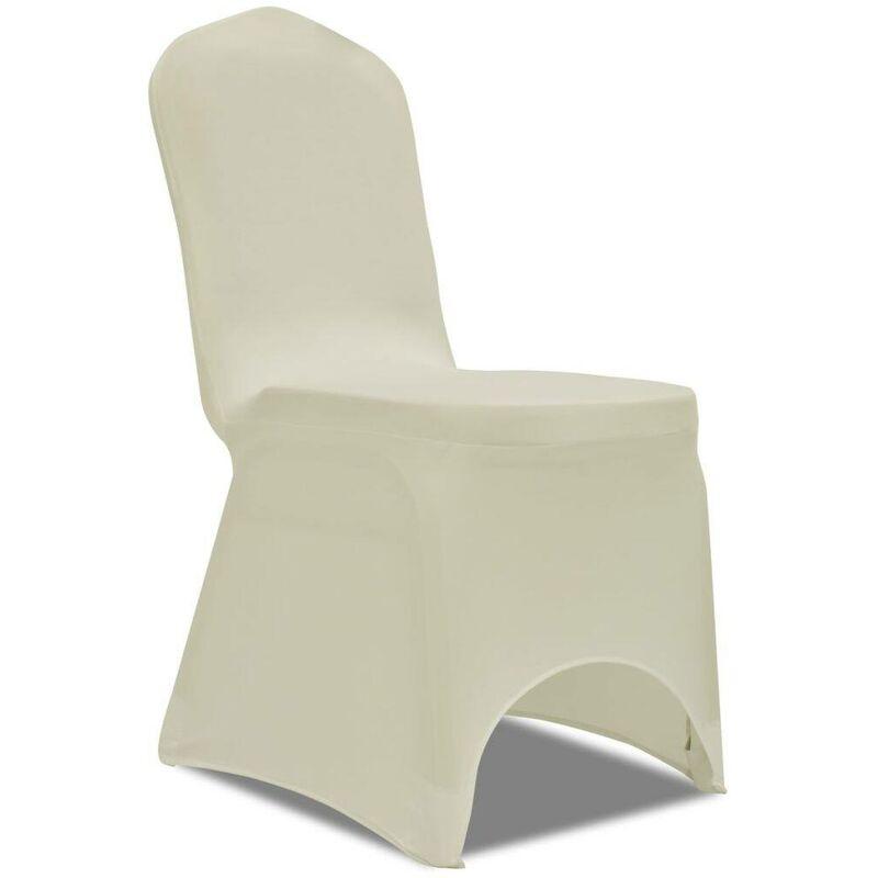 VDTD00251_FR 50 housses de chaise extensibles crème - Topdeal