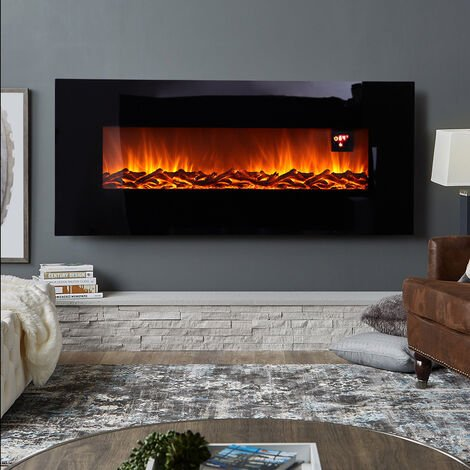 """main image of """"50 inch LCD Fireplace Electric Heater Remote Timer Adjustable Flame Effect Core"""""""