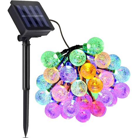 """main image of """"50 LED 31-foot crystal spherical solar lamps outdoor with 8 modes for outdoor Christmas tree garden terrace party outdoor durable solar-powered waterproof fairy lamp decoration (multi-color)"""""""