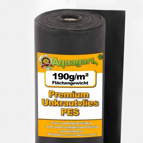 50 m² feutre de paillage anti-mauvaises herbes, film de paillage, toile de paillage, tissu de sol 190 g, 1 m de large, PES
