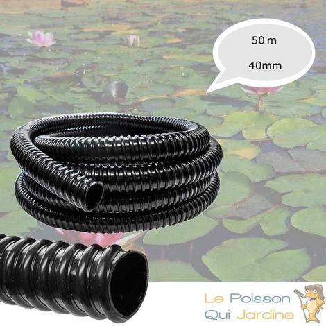 50 Mètres, Tuyau, 40 mm, PVC Souple, Pour Aquarium Ou Bassin De Jardin - Noir