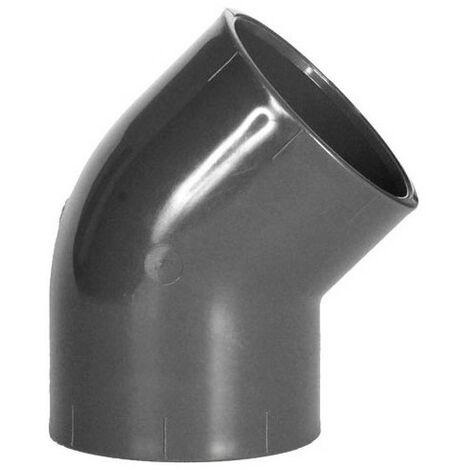 ø 50 mm - Coude Simple en PVC à 45°- Femelle à Coller/Femelle à Coller