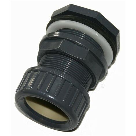 ø50 mm Traversée de paroi pvc + écrou de serrage