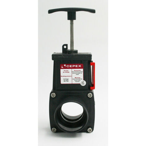 ø50 mm, Vanne guillotine en PVC