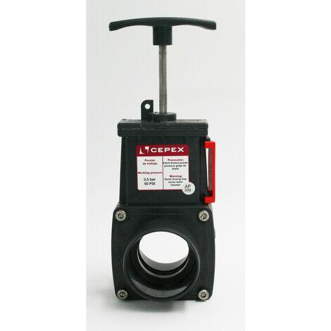ø 50 mm, Vanne guillotine PVC.