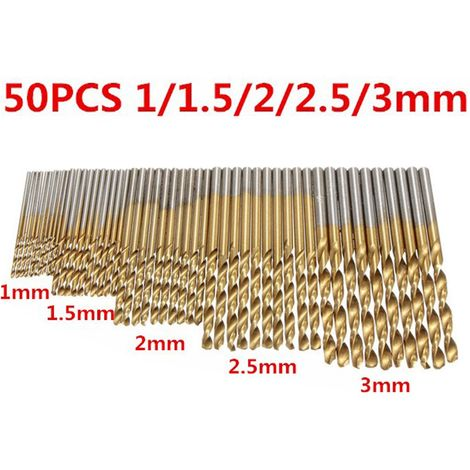50 Pcs Hss Titanium Coated Hss Drill Bits For Stainless Steel Hard Metal