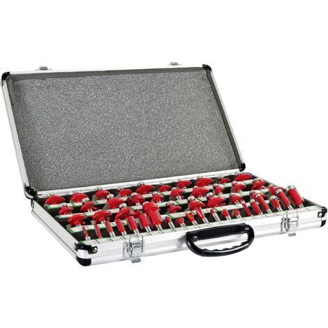 50 pcs Partie supérieure de jeu de fraises dans un coffret en aluminium D992601