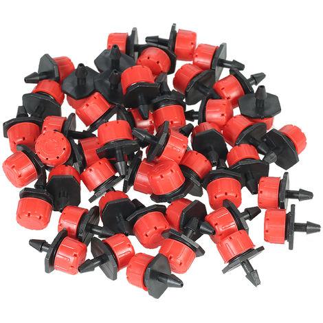 50 piezas, microaspersor de goteo ajustable, sistema de goteo emisor anti-obstruccion