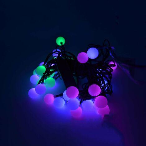 Luci Di Natale Esterno.50 Sfere Led Multicolor Rgb Luci Di Natale Da Esterno Decorazioni Natalizie Bulbi Luce