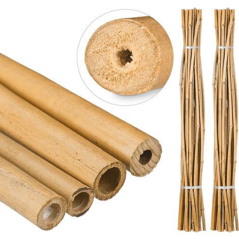 50 Varas de Bambú, Tutores para Plantas, Bambú Natural, 150 cm
